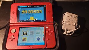 NINTENDO 3DS XL RED 4GB MINI SD 5 GAMES AND CASE for Sale in Stockton, CA