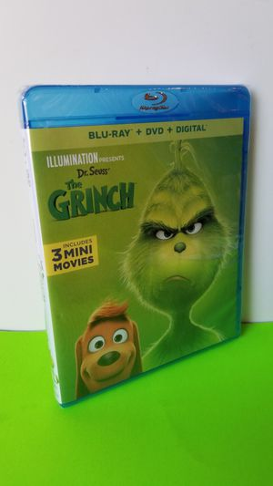 The Grinch Movie New&Sealed Blu Ray plus DVD& Digital code for Sale in San Diego, CA