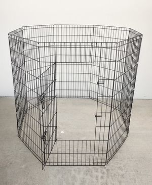 "New in box $45 Foldable 48"" Tall x 24"" Wide x 8-Panel Pet Playpen Dog Crate Metal Fence Exercise Cage for Sale in South El Monte, CA"