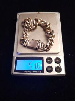 Sterling Silver Cuban Link Bracelet for Sale in Mount Rainier,  MD