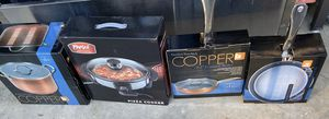 BRAND NEW PARINI COPPER Pots , Pan , and Pizza Cooker for Sale in Kent, WA