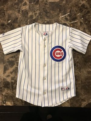 Chicago Cubs Alfonso Soriano Baseball Jersey Sewn logo's name and numbers. Youth kids size small. for Sale in Elgin, IL
