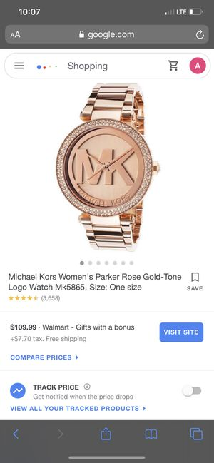 """Mk watch women's and a men's 18"""" 925 necklace for Sale in Thomasville, NC"""