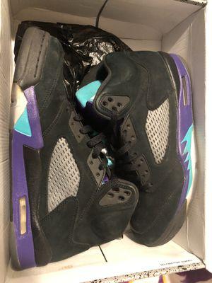 Black grape Jordan 5 for Sale in Pasadena, CA