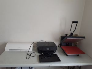 Heat press, silhouette cameo, hp envy printer,Asus laptop..everything only few months old photo shop,corel draw,silhouette studios already installed for Sale in Virginia Beach, VA