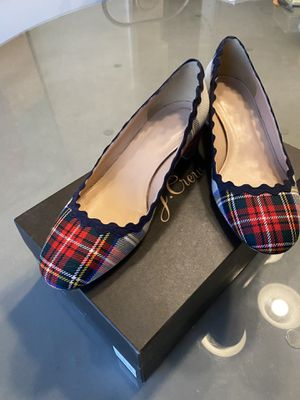 J.Crew Scalloped Tartan heels size 8 for Sale in Valley Center, CA