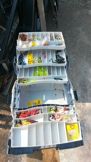 Tackle box with fishing tackle for Sale in House Springs, MO