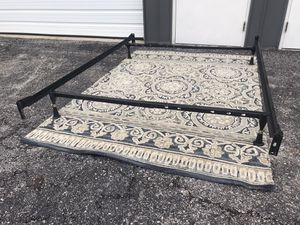 New FULL size metal bed frame with headboard and footboard connections for Sale in Columbus, OH
