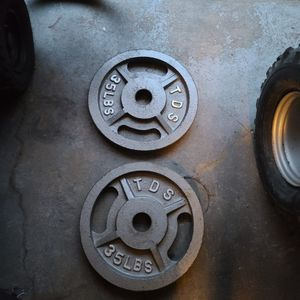 Set Of TDS 35lbs Olympic Plates 2inch for Sale in Philadelphia, PA