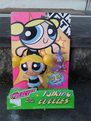 Retired 1999 Powerpuff Girls Talking Bubbles Action Figure Doll Cartoon Network Toy NEW for Sale in Langhorne, PA