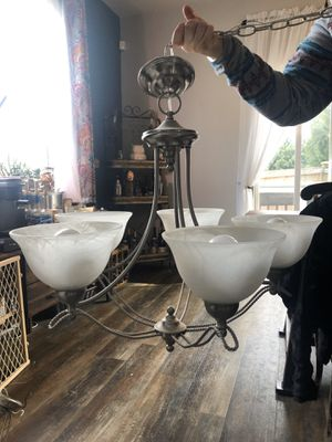 Matching chandelier and ceiling scone for Sale in Snohomish, WA