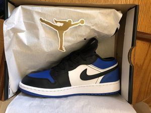 """Nike Air Jordan 1 """"Royal Toe"""" Royal Blue and White Low Rise for Sale in Denver, CO"""