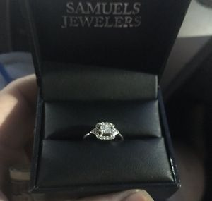 14k white gold princess cut 1/3 ct diamond ring for Sale in Phoenix, AZ