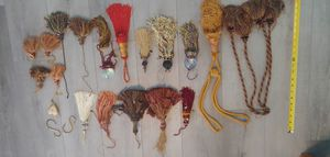 Lot of 20 x Tassles Vintage Large Small Door Hang Drapery Metal Accent for Sale in Seminole, FL