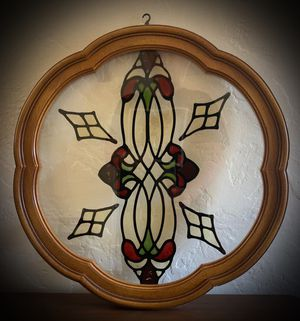 Original Antique Vintage Stained Glass Window/Wall Hanging Picture. for Sale in San Diego, CA
