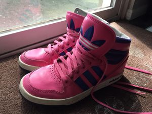 Women's adidas high top tennis shoes/ sneakers size 5 for Sale in Lake Mary, FL