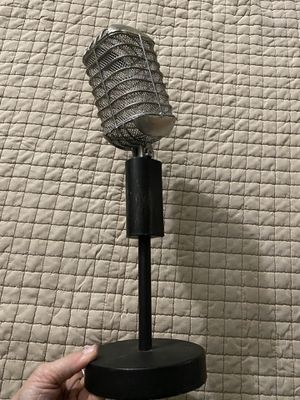 Antique silver and black microphone table decor for Sale in San Antonio, TX