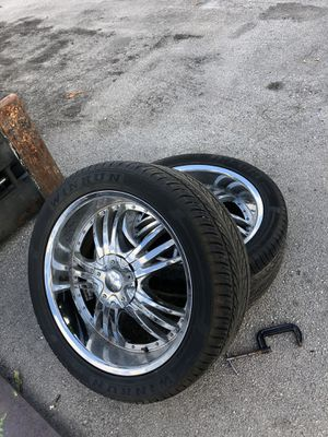 Rims with tires size 22 5 lug for Sale in Homestead, FL