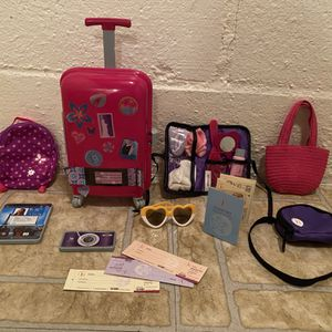 Luggage and Accessory Set for American Girl or Our Generation Doll for Sale in Pittsburgh, PA