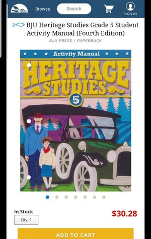 Heritage Studies 5 BJU for Sale in Virginia Beach, VA
