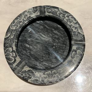 """Vintage Granite Beautifully Etched 6"""" Ashtray for Sale in Sandy, OR"""