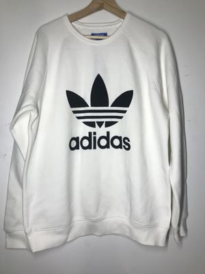 Adidas men's sweater (Never worn) white crew neck for Sale in Washington, DC