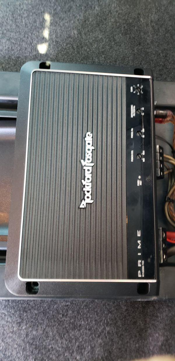 """1200 Amp Rockfordfosgate, and 12"""" Alpine SubSpeakers"""