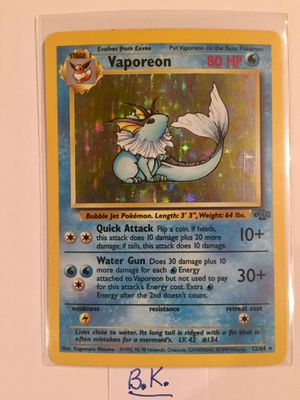 Vaporean Pokemon Card #12/64 for Sale in Riverside, CA