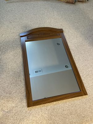 Wall mirror with wood frame for Sale in West Bloomfield Township, MI