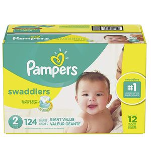 Diapers Disposable Newborn / Size 2 ( 124 Count ) Pampers Swaddlers for Sale in Miami, FL