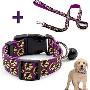 Petknows Pet Halloween Collar and Leash Set, Adjustable Collar with Bell for Dogs for Sale in Houston, TX