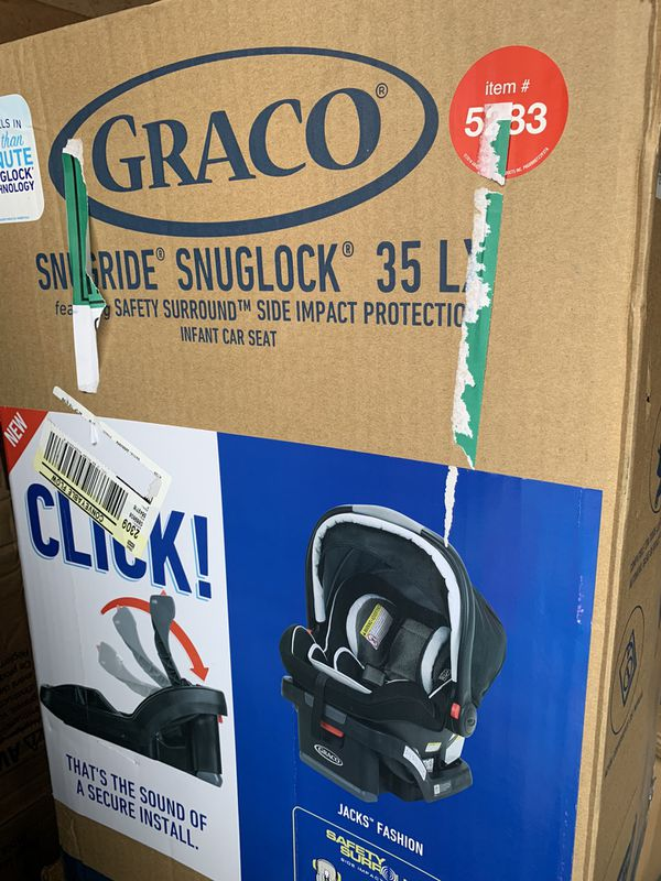 New Graco SnugRide SnugLock 35 LX Infant Baby Car Seat W/Base TrueShield Side Impact Jack SUMMERLIN