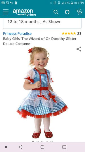12-18m Dorothy costume for Sale in West Puente Valley, CA