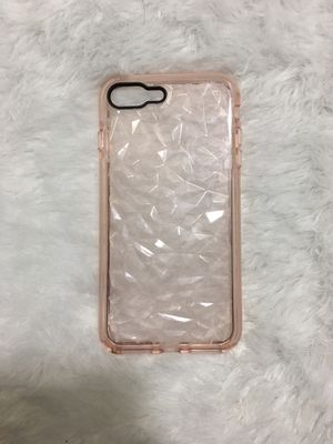 Pink toned clear IPhone case for IPhone 6plus/ 6s plus/ 7plus/ 8plus for Sale in Miami, FL