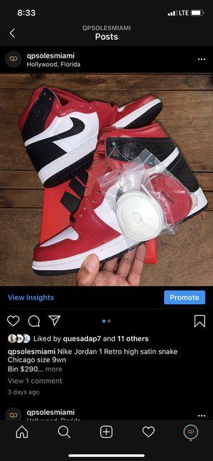 Air Jordan 1 satin snake size 9woman deadstock for Sale in Aventura, FL