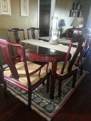 Rosewood 7 piece dining table for Sale in Altadena, CA