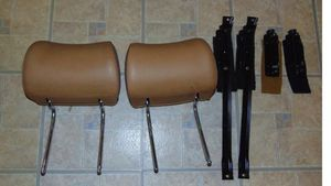 RARE euro Mercedes W123 300D CD Rear Headrest Pair Tan With Brackets for Sale in Marina del Rey, CA