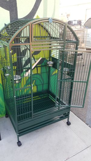 Wrought Iron Parrot bird cage, dome top for Sale in Vista, CA
