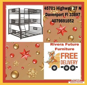 Triple Bunkbed Full, Twin XL and Queen in Special Offer In 45701 Highway 27 N Davenport Fl 33897 for Sale in Davenport, FL