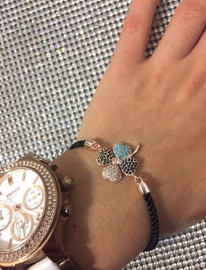 Lucky Four Clover Zirkon Bracelet for Sale in Union City, NJ