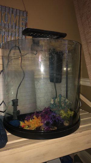 Aquarium 10 gallon, light, pump, heater, ship, plants for Sale in Dry Prong, LA