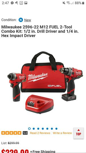 2 12 volt Milwaukee drills with 2 batteries and charger for Sale in Grand Bay, AL