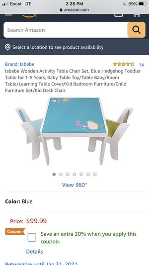 Table and 2 chairs. For kids for Sale in Lancaster, CA