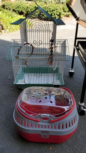Bird cage and pet travel cage for Sale in Raleigh, NC