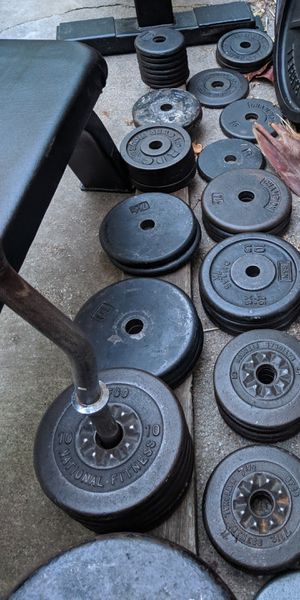 Curl Bars and curl bar weights and stands for Sale in San Ramon, CA