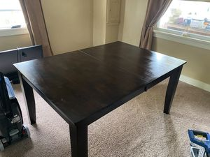 Levin brand brown wooden dining room table for Sale in Verona, PA
