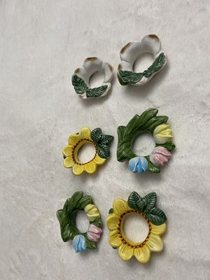 Set of six vintage napkin rings for Sale in Lehigh Acres, FL