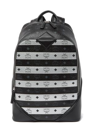 MCM MENS/UNISEX VISETOS BLACK SILVER STRIPPED BACKPACK NWT $995 Retail for Sale in New York, NY