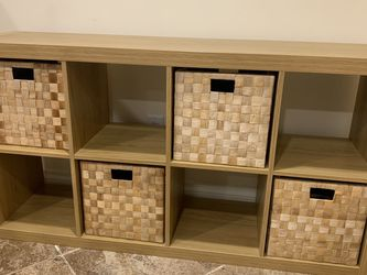 Shelving Unit - Includes 4 Basket Storage Boxes for Sale in Seattle,  WA