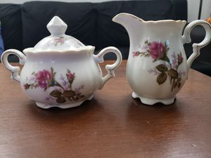 Sugar Bowl ( with Lid) & Creamer China by Ucagco for Sale in Woodbridge, VA